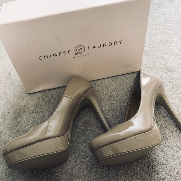 b4ea12cd41 Chinese Laundry Shoes | Patent Nude Heels | Poshmark